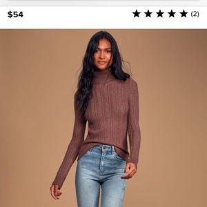 Lulus Herringbone Knit Sweater